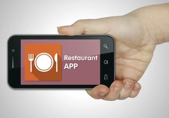 Restaurant app. Mobile