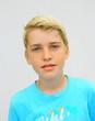 portrait garçon blond,adolescent 12 ans