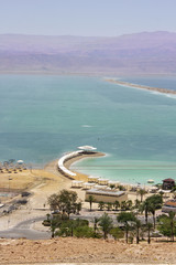 beach on the Dead Sea, Israel