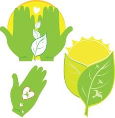 Green Environmental Icons - Illustration