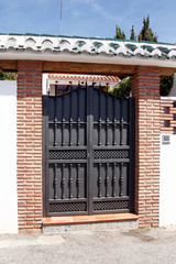 wrought black gate