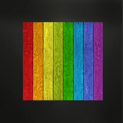 Holz mit Regenbogenfarben
