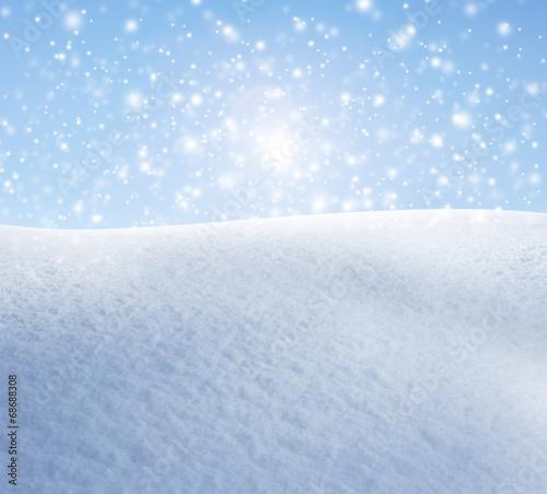 canvas print picture Schneeflocken vor Blauem Himmel