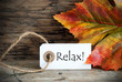 Leinwanddruck Bild - Fall Label with Relax