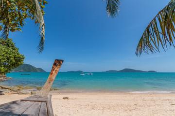Paradisiac beach of Laem Ka, Koh Phuket