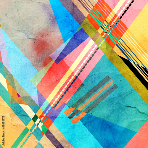 Plakat colorful abstract pattern