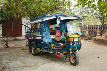 Colorful Tuk Tuk in Laos, Luang Prabang