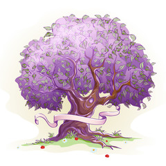tree with leaves, the tree of wisdom and life
