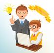 Vector Team Management Concept Illustration