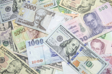 US dollars,Euro