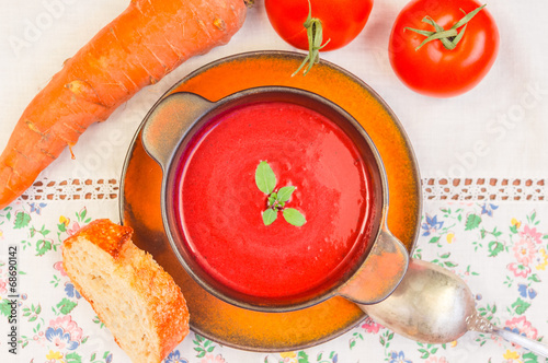 canvas print picture Tomatensuppe