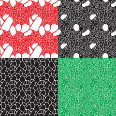 four seamless abstract backgrounds