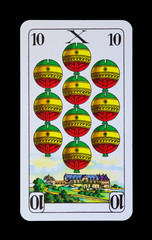 Spielkarten und Denkmäler  - Schellen Zehnt - Goslar Kaiserkaus