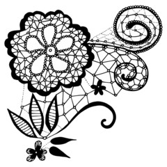 Lace flower motif for design