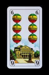 Spielkarten und Denkmäler  - Schellen Sechs - Weimar Theater