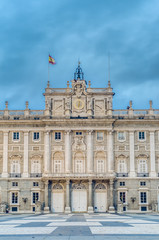 The Royal Palace of Madrid, Spain.