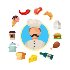 Vector Cooking And Food Icons