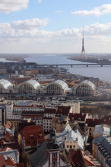 Riga panorama, from St.Peter church, Riga, Latvia