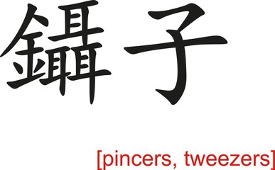 Chinese Sign for pincers, tweezers