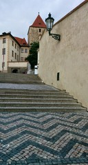 Old castle stairs at Prague castle