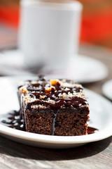 coffee with brownie