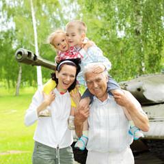 family of three generations