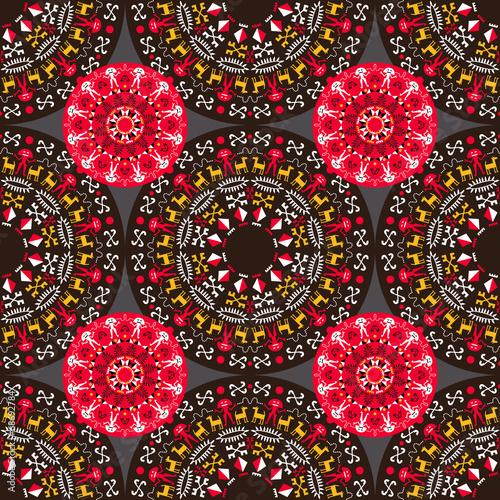 Cotton fabric Tribal Seamless Pattern