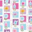 Retro Flowers Seamless Pattern