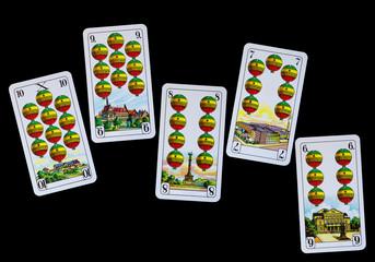 Spielkarten Denkmäler Deutschland - Schellen