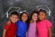 Leinwanddruck Bild - Children At School