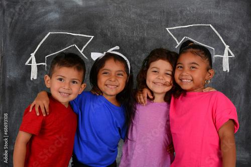 Leinwanddruck Bild Children At School