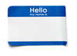 Hello Name Tag - 68693358