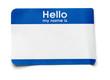 Leinwanddruck Bild - Hello Name Tag
