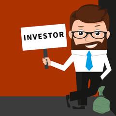 Lucky businessman as investor