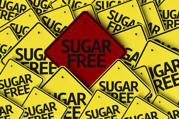 Sugar Free written on multiple road sign