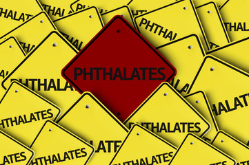 Phthalates written on multiple road sign