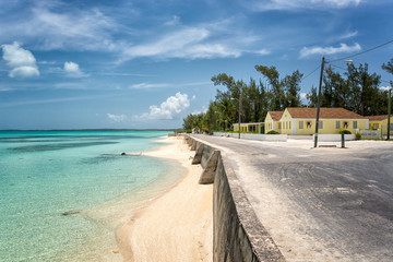 Colorful village on Eleuthera Island, Bahamas