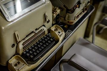 Vintage typewriter in Vietnamese bunker