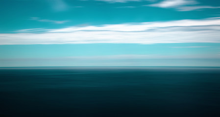 Dramatic motion blurred seascape