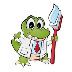 krokodil zähne putzen zahnarzt lustig