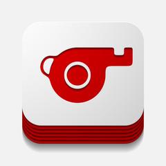 square button: whistle