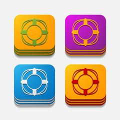 square button: lifebuoy