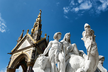 The Albert Memorial in Kensington Gardens, London