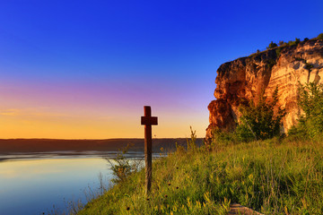 cross near big lake