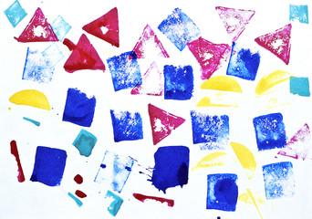 Colorful prints of watercolors