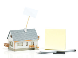 House model and post it