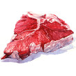 Raw fresh beef on white background - 68698558