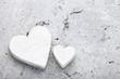 Leinwandbild Motiv Zwei weiße Herzen