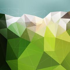 Abstract green mountain