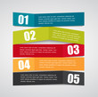 Infographic Origami Templates for Business Vector Illustration.
